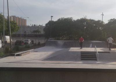 Skatepark en Hospitalet de Llobregat, barrio El Gornal, Barcelona